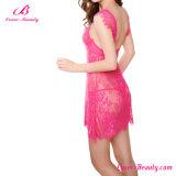 Ropa interior atractiva romántica de las mujeres bonitas See a través de la ropa interior transparente con las bragas de T
