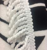 別のカラー習慣のふさが付いている100%年の綿の円形のビーチタオル