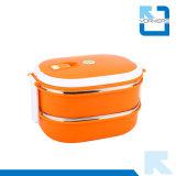 304 het tweedeks Lekvrije Roestvrij staal haalt de Container van het Voedsel van de Doos van de Lunch weg