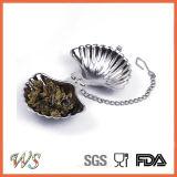 Инструмент чая стрейнера чая нержавеющей стали Infuser чая формы раковины Wsclft004 для свободных листьев