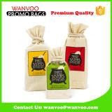 Логос хранения Drawstring хлопка кофейного зерна Durabilty подгонянный мешком