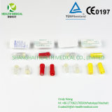 Protezione trasparente rotonda dell'eparina in pacchetto di bolla