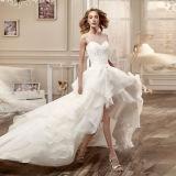 Olá!-Baixo vestido de casamento Tb418 do Short do corpete do laço dos vestidos nupciais de Organza