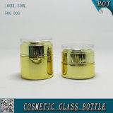 Goldfarbe galvanisieren kosmetische Glasflaschen und kosmetische Glasgläser