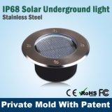 Luz subterrânea solar do jardim do diodo emissor de luz do IP 68