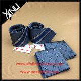 Handmade сплетенная жаккардом связь 100% Silk с карманным квадратом