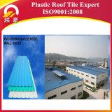 Tuile de toit en plastique de PVC de poids léger de couleur rouge