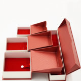 Kippen-Spitzenmaschinenhälften-Papier-Schmucksache-Kasten mit dem heißen Stempeln (J83-EX)