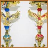 Rohre Shisha des Adler-rote Blau-4 Glasrohr-Huka