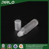 Rolle des bereiften Glas-10ml auf Flasche mit Glasrollen-und Silber-Schutzkappe