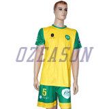 OEMの方法高品質の人のサッカーのジャージーセットは中国の製造者をカスタム設計する