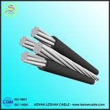 Изолированный XLPE воздушный образованный кабель ABC кабеля надземный