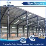 Edificio de marco prefabricado de la estructura de acero en la zona industrial