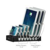 iPhone 7のiPhone 6のiPadのための7ポートUSB充満端末のドック