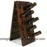 6びん30のびんのワイン・ボトル記憶および党棒装飾のための木のワインラック
