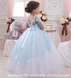 Robe F1715 de fille de fleur de mariage de lacet de robe de bille de la reconstitution historique de la fille