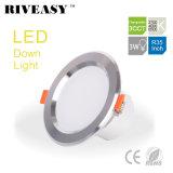 높은 가벼운 Ce&RoHS 3CCT를 점화하는 아래로 3W 3.5 인치 LED 가벼운 Downlight