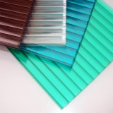 Sgs-anerkanntes PC Polycarbonat-Höhlung-Blatt-festes Blatt-überzogenes gewölbtes UVblatt