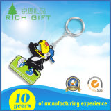 PVC macio feito sob encomenda relativo à promoção Keychain de borracha da forma 3D para anunciar presentes da lembrança