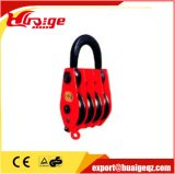 En soulevant la roue simple de bloc de poulie de poulie, doubler la poulie de bloc de poulie de roues