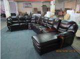 Sofà di cuoio moderno per il sofà domestico del salone della mobilia sezionale