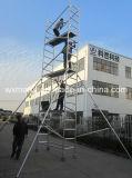 Échafaudage en aluminium mobile approuvé 8m de GV pour la maintenance