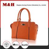 handbag 유용한 태양열 집열기 PU에 의하여 주문을 받아서 만들어지는 로고 쇼핑 백 숙녀