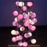 Свет шнура шарика хлопка СИД домашнего украшения рождества Multicolor
