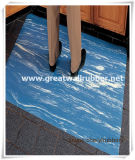 De Mat van de vloer, de Mat van de Badkamers, de Mat van de Keuken van de Marmeren Zij Rubber RubberMat van het Blad