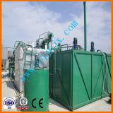 Aceite de motor usado destilería del petróleo inútil que recicla la máquina de blanquear negra del petróleo