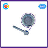 Vis principales hexagonales galvanisées de bride de dispositif de fixation d'acier du carbone avec la garniture/rondelle