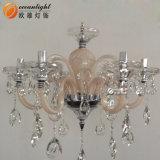 Lámpara cristalina de lujo grande vendedora caliente Om90017 de la lámpara de la vela E12/E14 de la aleación