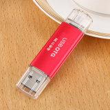 주문 로고 이동 전화 이중 OTG USB 섬광 드라이브