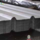 波形の屋根瓦の建築材料に屋根を付けるコーティングの鋼鉄金属を着色しなさい