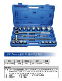 """Clé à douille d'outil manuel 21PCS réglé 3/4 """" 20mm Series&#160 ; Type - 2"""