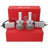 Bulbos automotrizes do farol do diodo emissor de luz do farol H4 6000k X7 do diodo emissor de luz para ampolas dianteiras de névoa do diodo emissor de luz do farol do carro de 120W 9600lm 6000k auto