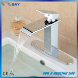 """Choisir le mélangeur en laiton de robinet de bassin de bassin de chrome de trou de traitement avec la """" plaque 8"""
