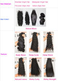 Extensions brésiliennes Lbh 102 de cheveu de Vierge de types de cheveux humains d'onde profonde normale neuve d'armure
