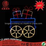 LEDの大きい金属フレームのサンタクロースのクリスマスの通りのBulidingの装飾のための装飾的なモチーフライト