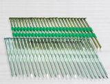 O mecânico eletrônico de Galvanzied galvanizou prego plástico revestido da tira