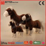 Alta calidad realista juguete suave de peluche animal de pie caballo