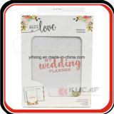 Плановик венчания изготовленный на заказ книга в твердой обложке Yo Binding еженедельный счастливый с упаковывать коробки подарка