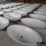 Lavabo acrylique extérieur solide de couleur blanche sanitaire d'articles