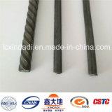 alto alambre de acero del concreto pretensado del carbón de 6.25m m