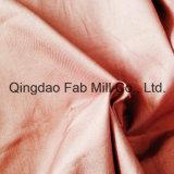 Tela derecha estirada algodón orgánico de la tela cruzada (QF16-2699)