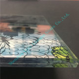 Vidrio manchado modificado para requisitos particulares/vidrio de cristal/decorativo impreso/arte del vidrio/arte de cristal para Windows&Building