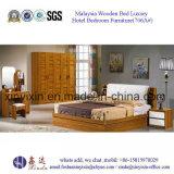 Muebles de cuero del dormitorio del hotel de lujo de la base de la PU (702A#)