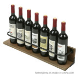 Mensola di visualizzazione rustica del liquore di vino della cremagliera fissata al muro della bottiglia