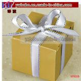 La faveur de mariage d'or de boîte-cadeau enferme dans une boîte les produits de fête d'anniversaire 100CT (W1008)