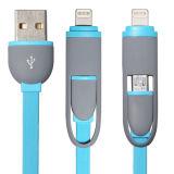 Микро- кабель 2 данным по USB USB 8pin в 1 переходнике кабеля заряжателя мобильного телефона для всех Android & iPhone